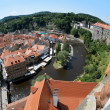Cesky Krumlov Castle, Old Town and Vltava river — Stock Photo