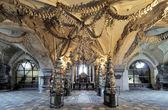Interior do ossuário de sedlec (kostnice), República Checa — Fotografia Stock