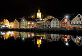 Guest harbour of Stavanger at evening, Norway — Stock Photo