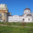 Churches in Novo-Tikhvin monastery of Yekaterinburg, Russia — Stock Photo