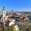View of Bratislava with Cathedral of St. Martin - Stock Photo