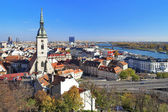 View of Bratislava with Cathedral of St. Martin — Stock Photo