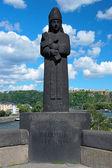 Sculpture of archbishop-elector Baldwin in Koblenz, Germany — Stock Photo