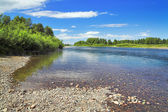 Drying channel of Abakan River, Russia — Stock Photo