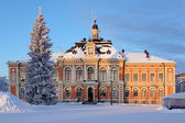 Kuopio Stad hall in de winter, finland — Stockfoto