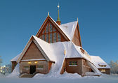 Kiruna Church in winter, Sweden — Stock Photo