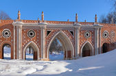 Large Bridge in Tsaritsyno, Moscow, Russia — Stock Photo