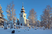 Vilhelmina Church in winter, Sweden — Stock Photo