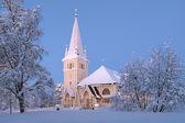 Arvidsjaur église en hiver, suède — Photo