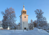 église de dorotea en hiver, suède — Photo