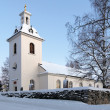 Stroms Church in winter, Stromsund, Sweden - Zdjęcie stockowe