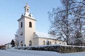 Stroms église en hiver, stromsund, suède — Photo