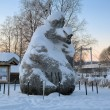 Giant Jorm from the swedish movie Dunderklumpen! in Stromsund - Stock Photo