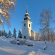 Vilhelmina Church in winter, Sweden - Zdjęcie stockowe