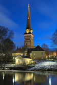 View of the Vasteras Cathedral in winter morning, Sweden — Stock Photo