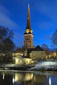 Vue sur la cathédrale de vasteras matin d'hiver, suède — Photo