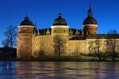 Gripsholm Castle in winter evening, Sweden — Stock Photo