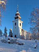 Vilhelmina Church in winter, Sweden — Stock Photo
