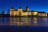 Gripsholm Castle in winter evening, Sweden — Stock Photo