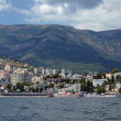 View on Yalta city from Black Sea, Crimea, Ukraine — Stock Photo