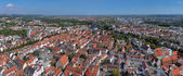 Panorama of Ulm and Neu-Ulm from Ulm Minster, Germany — Stock Photo