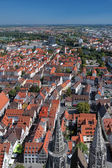 View on Ulm from the tower of Ulm Minster, Germany — Stock Photo