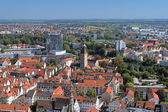 View on Ulm from Ulm Minster, Germany — Stock Photo