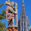 Statue of St. Christopher in Ulm, Germany - Stock Photo
