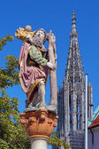 Statue of St. Christopher in Ulm, Germany — Stock Photo