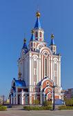 Catedral de la asunción en khabarovsk, rusia — Foto de Stock