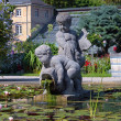 Sculpture in Botanischer Garten Karlsruhe, Germany - Stock Photo