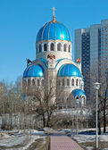 Church of the Holy Trinity in Moscow, Russia — Stockfoto
