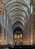Interiér katedrála ve štrasburku, francie — Stock fotografie