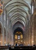 Interiören i katedralen i strasbourg, frankrike — Stockfoto