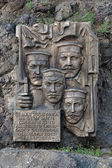 Memorial of founders of Khabarosvsk, Russia — Stock Photo