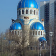 Church of the Holy Trinity in Moscow, Russia - 图库照片