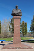 Denkmal von alexander ostrowski in kineschma, russland — Stockfoto
