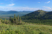 View of South Konzhakovskiy spur in Northern Ural, Russia — Stock Photo