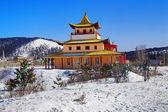 Templo budista em inverno, buryatia, rússia — Foto Stock