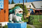 Sculpture de lion bouddhiste — Photo