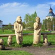 Stock Photo: Wooden sculpture near the Kirillo-Belozersky monastery