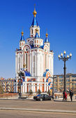 Cathedral in Khabarovsk — Stock Photo