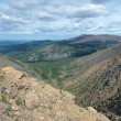 View from the Iov plateau, Northern Ural Mountains — Stock Photo