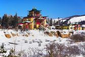 Buddhist temple in winter, Buryatia, Russia — Stock Photo