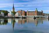 View of Riddarholmen island in Stockholm, Sweden — Stock Photo