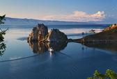 Cape Burhan and Shaman Rock on Olkhon Island at Baikal Lake — Stock Photo