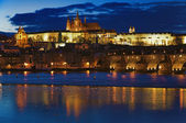 Night view on Prague Castle — Stock Photo