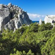Swan Wing Rock in Simeiz, Crimea — Stock Photo