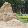 Mammoth made of sand in Tyumen — Stock Photo