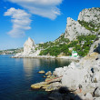 Black Sea coast near the town Simeiz in Crimea — Stock Photo